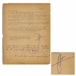 Hunter S. Thompson Letter Signed, With Funny Content -- ...C-J wants a story on...off-beat spots in SF. These should make me sick enough to become a legitimate ward of the state...
